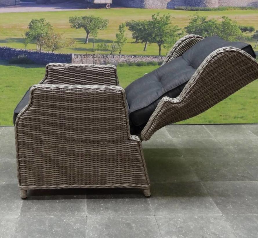 Toscane XL lounge balkonset verstelbaar 3-delig grijs