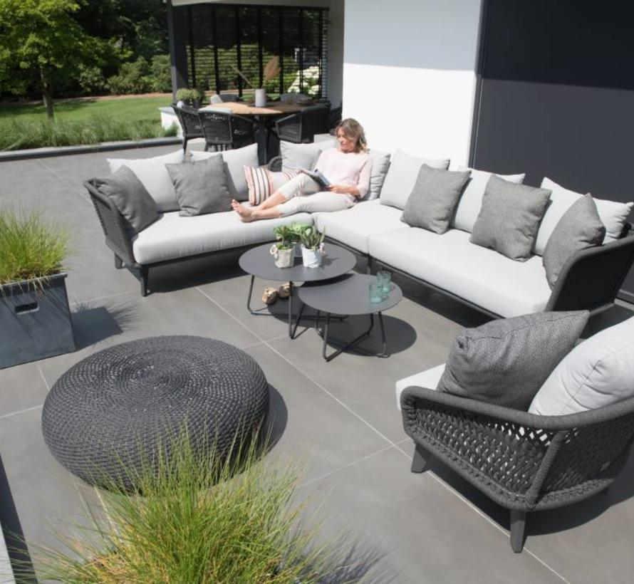 Belize hoek loungeset 4-delig antraciet rope 4 Seasons Outdoor