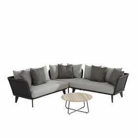 4 Seasons Outdoor Belize hoek loungeset 4-delig antraciet rope 4 Seasons Outdoor