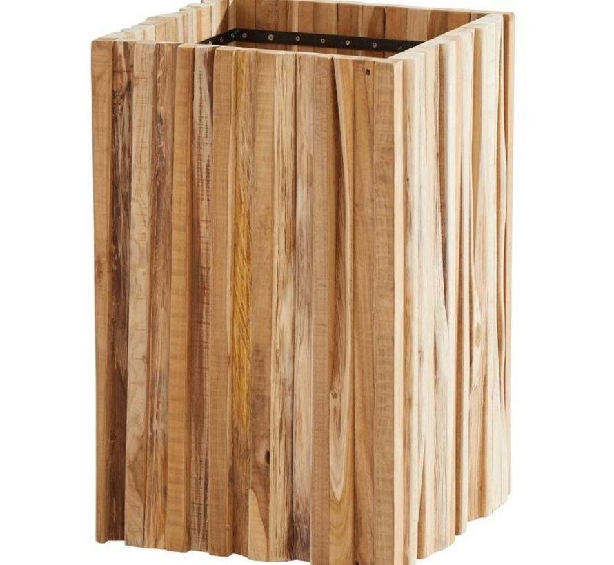 Miguel plantenbak 45x45xH70 cm teak 4-Seasons Outdoor