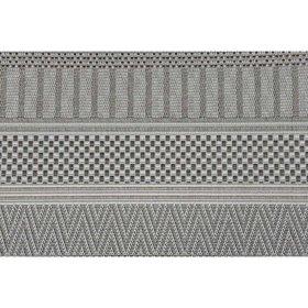 Garden Impressions Stripes buitenkleed 200x290 cm licht grijs
