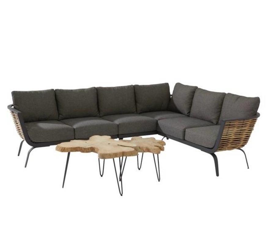 Antibes hoek loungeset 5-delig rechts 4 Seasons Outdoor