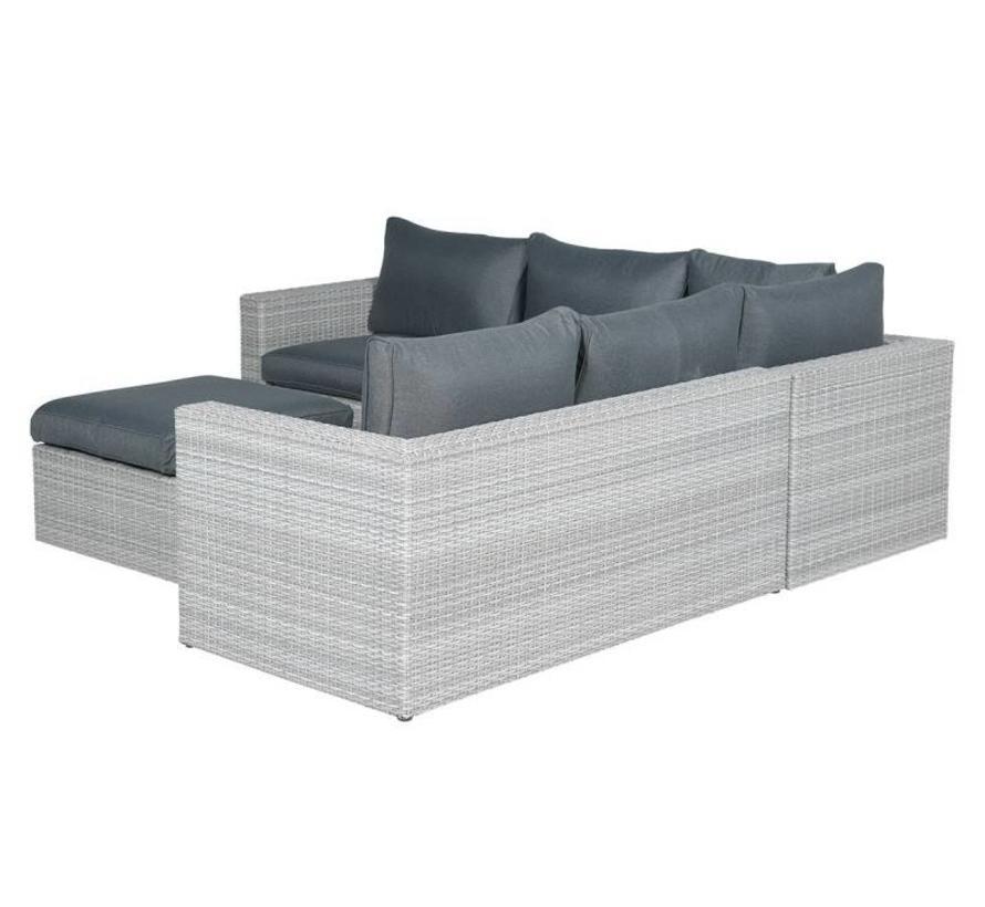 Casablanca hoek loungeset 4-delig - licht grijs