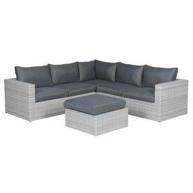 AVH-Collectie Casablanca hoek loungeset 4-delig - licht grijs