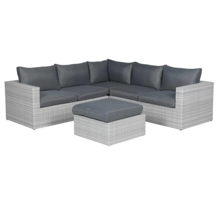 Orangebird hoek loungeset 4-delig - licht grijs