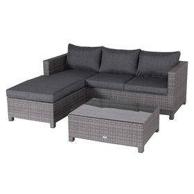 Garden Impressions Rudesheim chaise loungeset 3-delig grijs