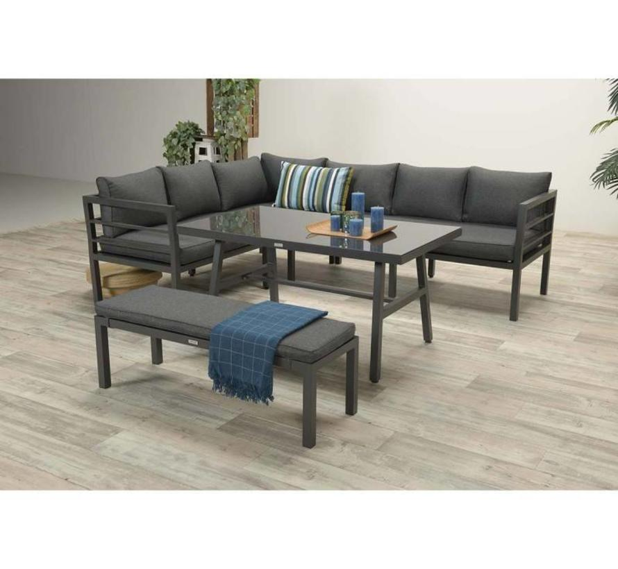 Blakes lounge dining set 4-delig antraciet