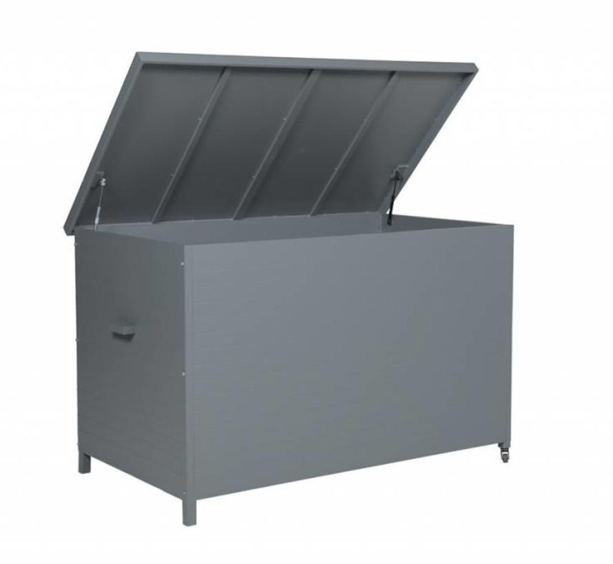 Cambridge kussenbox 167,5x97xH98,5 cm aluminium grijs