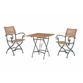 4 Seasons Outdoor Bellini Lindau bistroset 3-delig teak gietijzer 4 Seasons Outdoor
