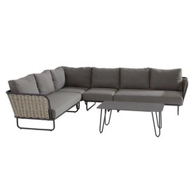 Taste 4SO Bo hoek loungeset 5-delig aluminium bananen wicker Taste 4SO