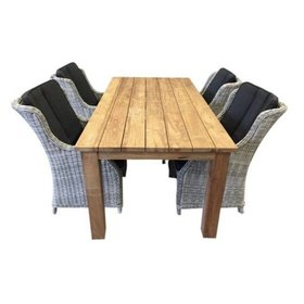 AVH-Collectie Darwin Old java dining tuinset 5-delig teak