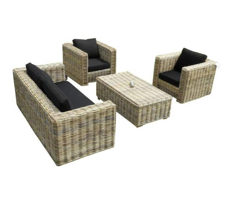 Nissah 2.5 zits stoel-bank loungeset