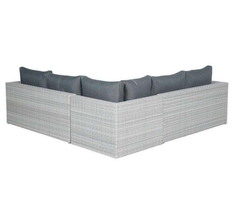 Orangebird hoek loungeset 5-delig - licht grijs