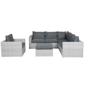 AVH-Collectie Casablanca hoek loungeset 5-delig - licht grijs