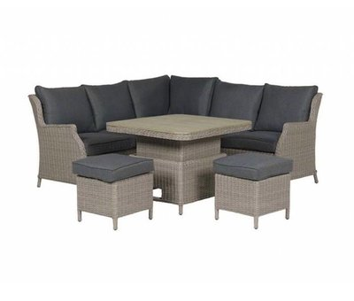 Garden Impressions Newton dining loungeset verstelbare tafel 5-delig taupe