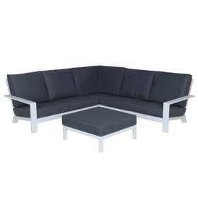 Garden Impressions Lincoln loungeset 4-delig aluminium wit