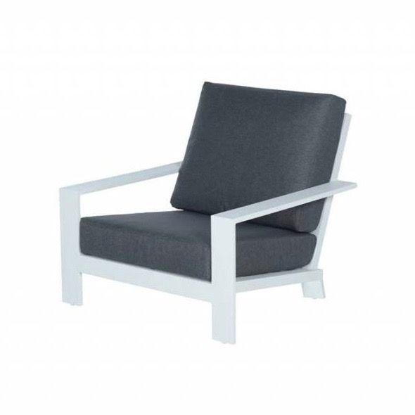 Lincoln lounge tuinstoel aluminium wit