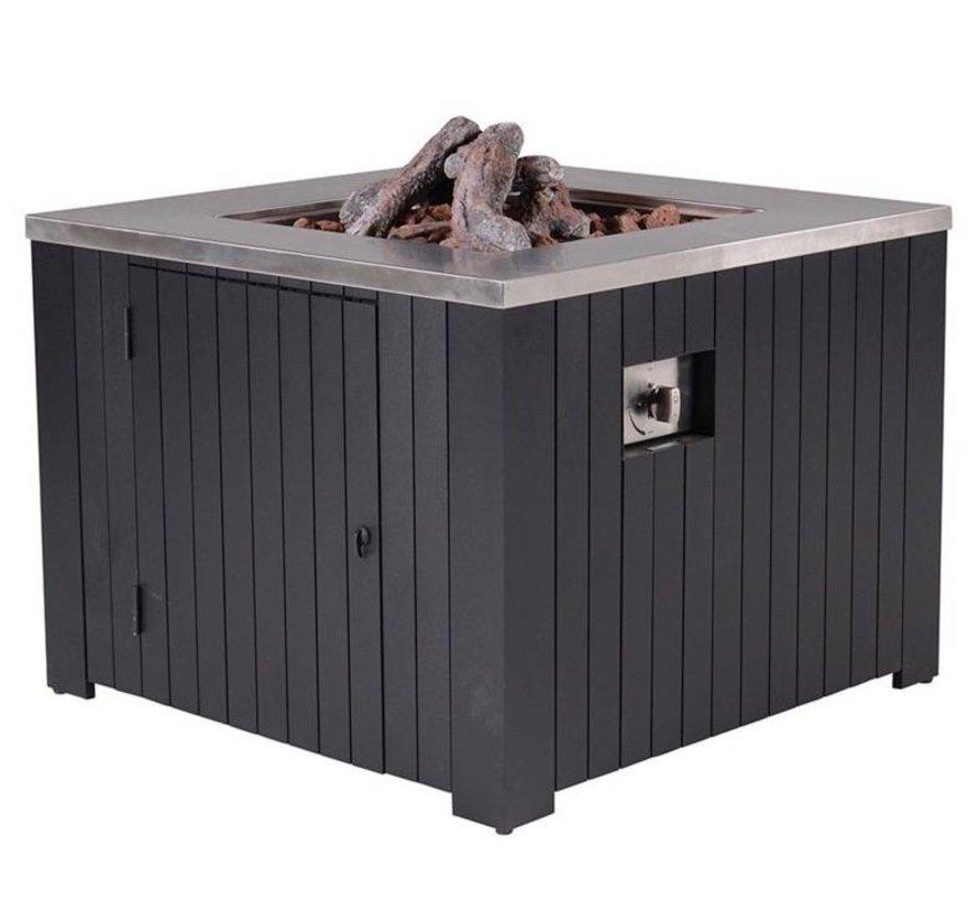 Cozy Living sfeerhaard Faro 80x80 cm zwart