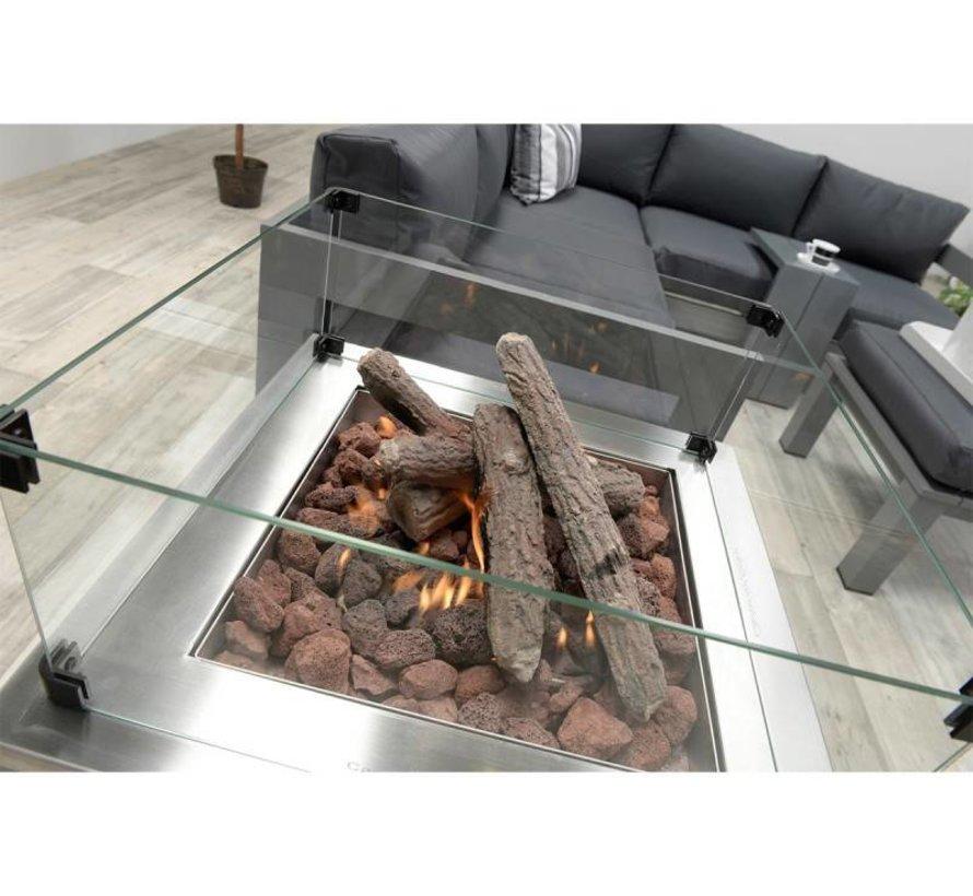 Cozy living sfeerhaard Faro 60x60xH61 cm grijs