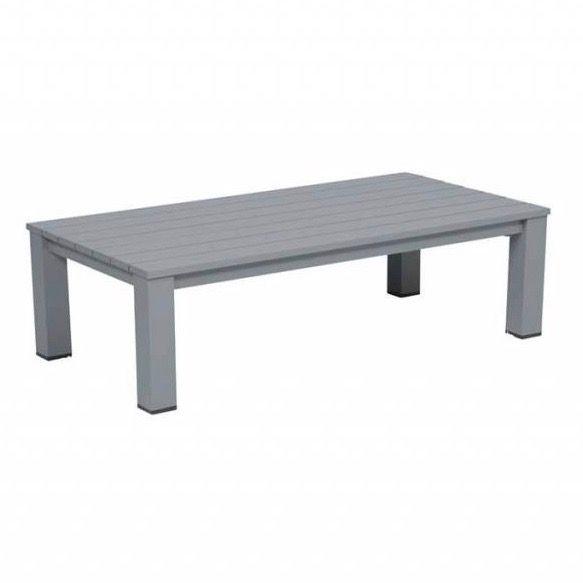 Romero lounge tuintafel 140x70xH40 cm aluminium grijs