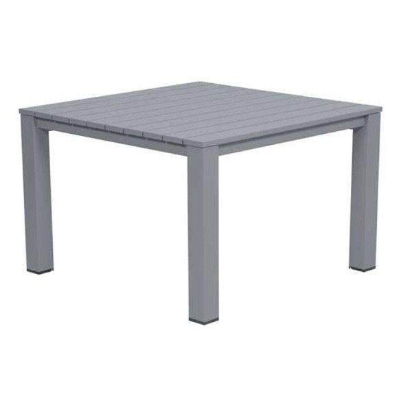 Romero lounge-diningtafel 100x100xH68 cm antraciet aluminium
