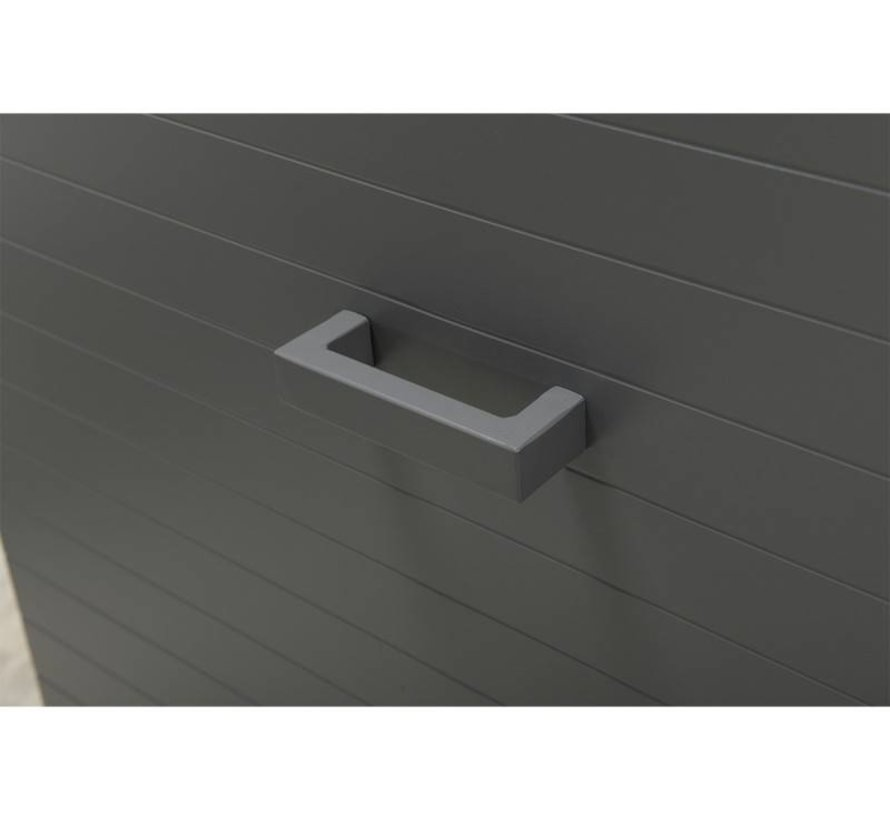 Cambridge kussenbox 138x72,5xH74 cm aluminium grijs