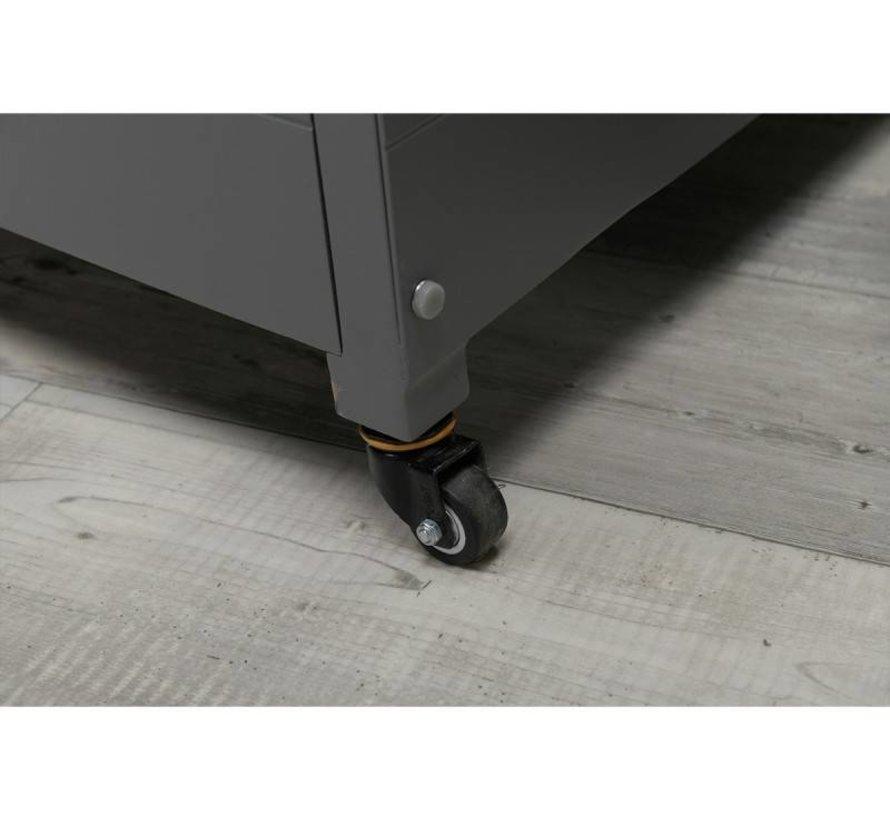 Cambridge kussenbox 138x72xH74,5 cm aluminium grijs
