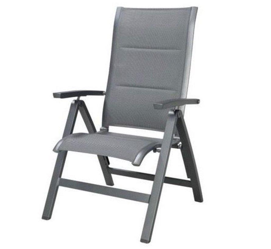 Roma standenstoel verstelbaar aluminium antraciet