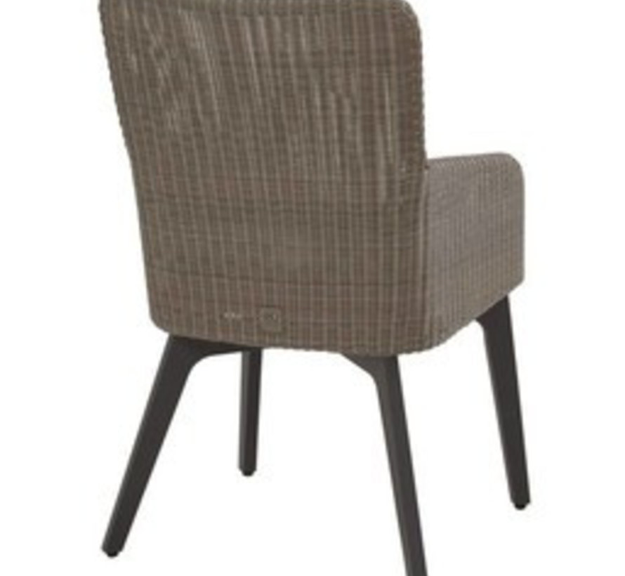 Louvre Luxor dining tuinset 160 cm rond 7-delig 4Seasons Outdoor