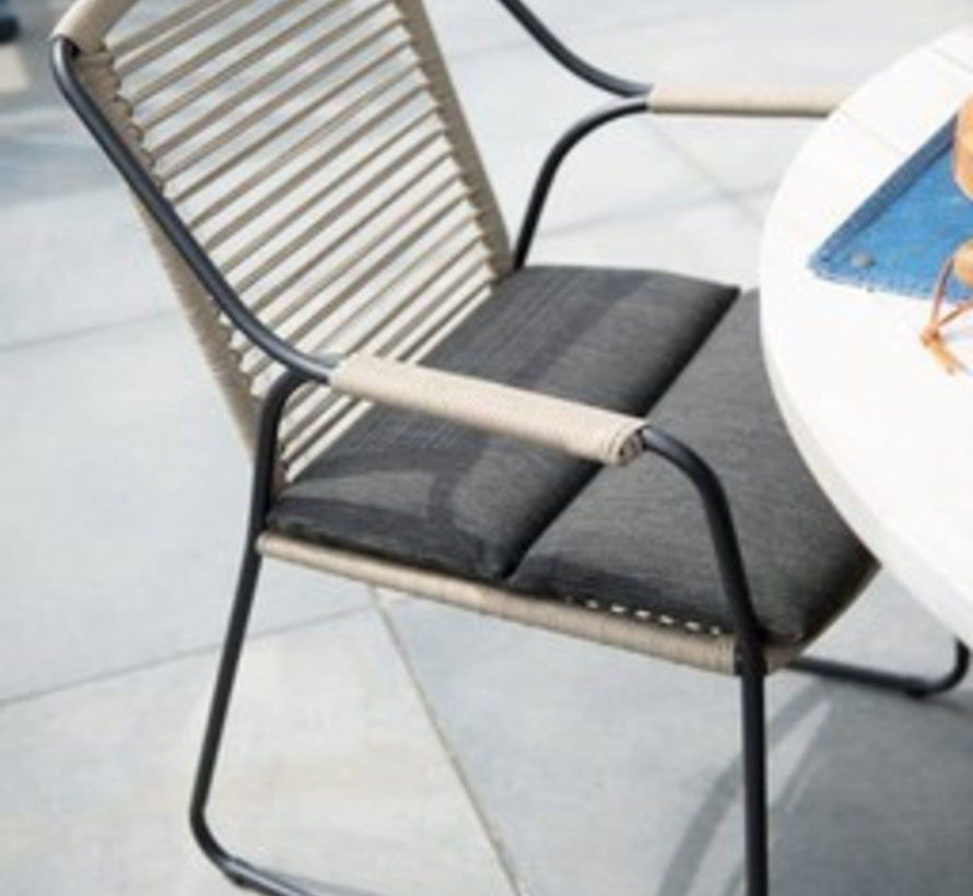Derby Scandic dining tuinset 240x100xH75 cm 5-delig  rope teak 4Seasons Outdoor