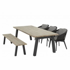 4 Seasons Outdoor Derby Belize dining tuinset 240x100xH75 cm 5-delig 4 Seasons Outdoor