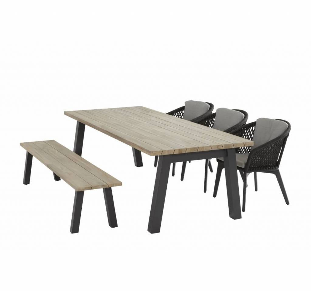 Derby Belize dining tuinset 240x100xH75 cm 5-delig 4 Seasons Outdoor
