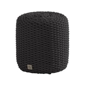 4 Seasons Outdoor Muffin poef 40xH42 cm rond rope grijs