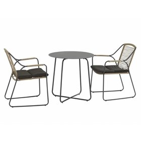4 Seasons Outdoor Dali Scandic bistroset 3-delig aluminium rope 4Seasons Outdoor