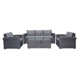 AVH-Collectie Mambo stoel-bank XL loungeset 4-delig antraciet