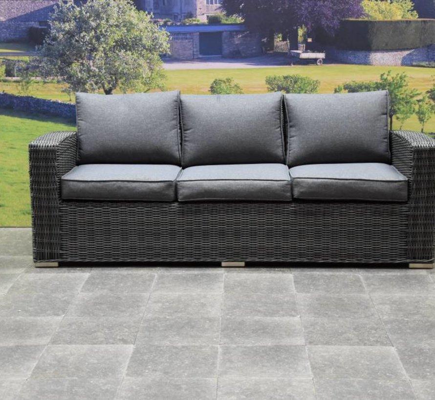 Mambo stoel-bank XL loungeset 4-delig antraciet