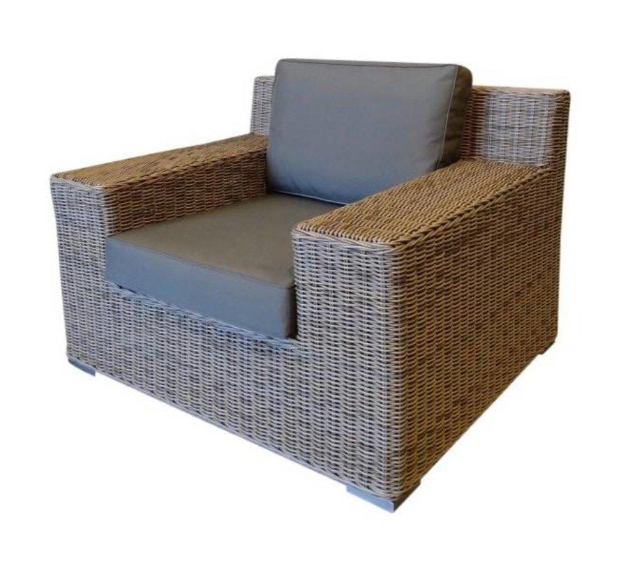 Riga stoel-bank loungeset 4-delig bruin