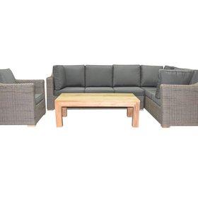 AVH-Collectie Tenerife hoek loungeset 4-delig bruin