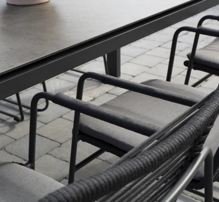 Elba dining tuinstoel stapelbaar rope grijs Taste4SO