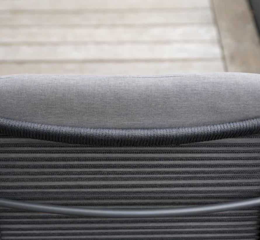 Elba stoel-bank loungeset 4-delig antraciet rope Taste 4SO