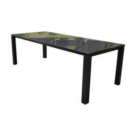 Studio 20 Nova dining tuintafel 240x100 cm angola black gezoet 3 cm graniet