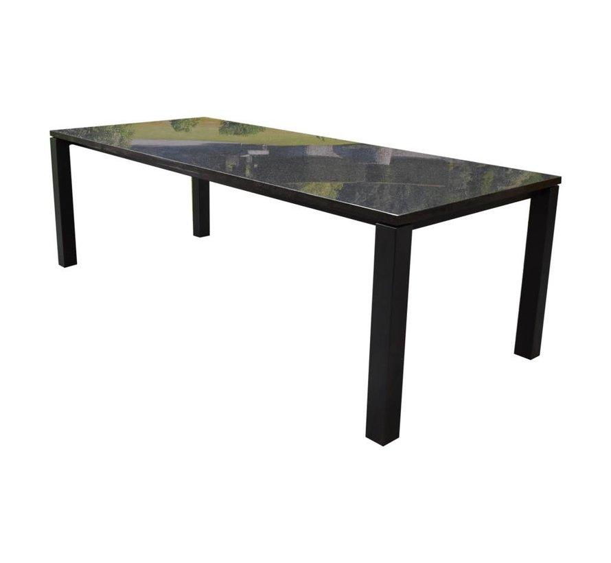 Nova dining tuintafel 240x100 cm angola black gezoet 3 cm graniet