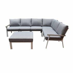 AVH-Collectie Murcia hoek loungeset 5-delig aluminium wit