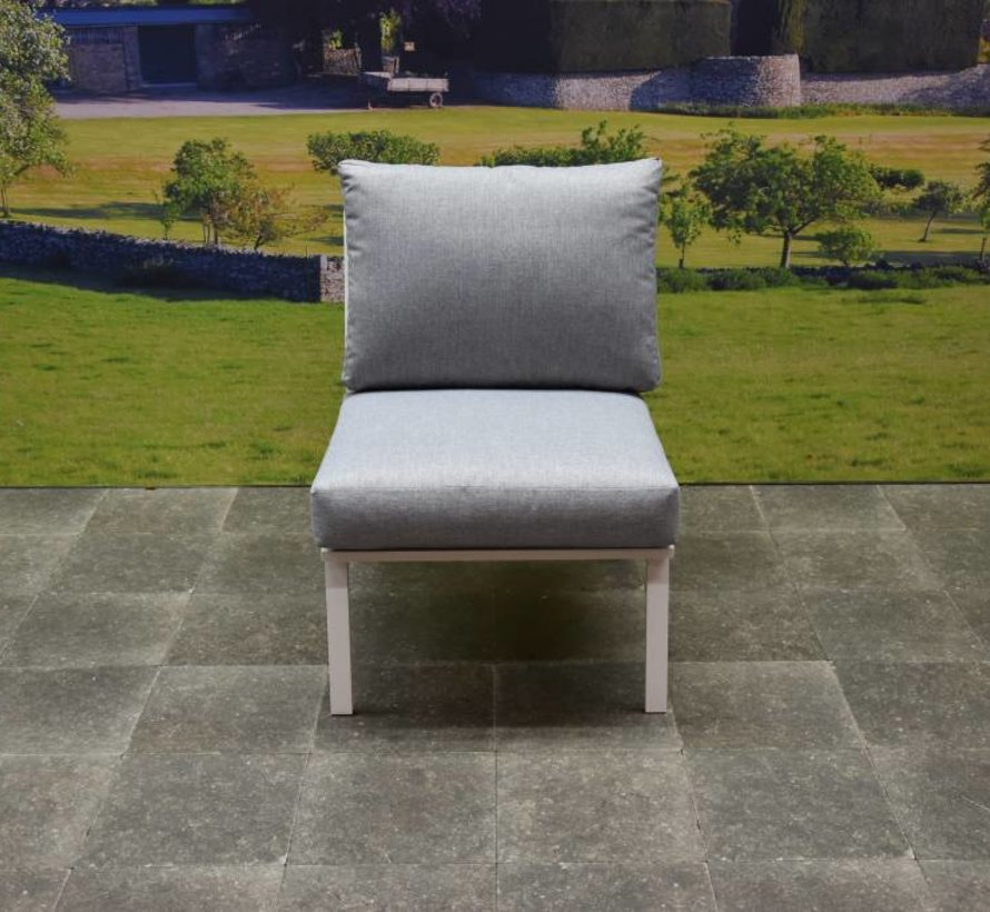 Murcia hoek loungeset 5-delig aluminium wit