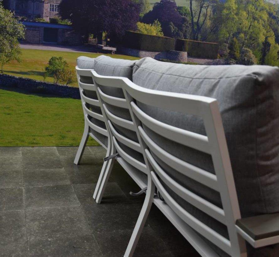 Murcia hoek loungeset 4-delig aluminium wit