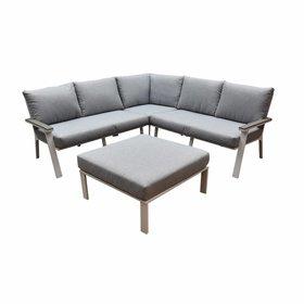 AVH-Collectie Murcia hoek loungeset 4-delig aluminium wit