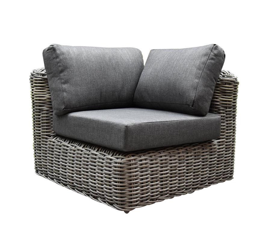 Las Palmas hoek loungeset 4-delig grijs wicker