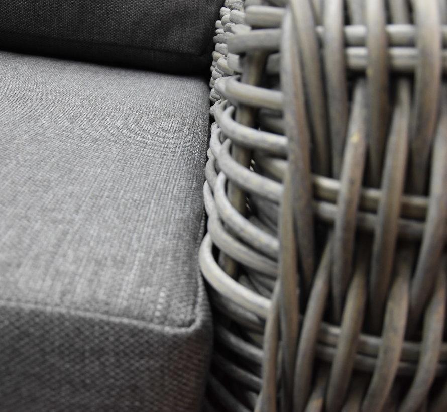 Las Palmas hoek loungeset 4-delig bruin wicker