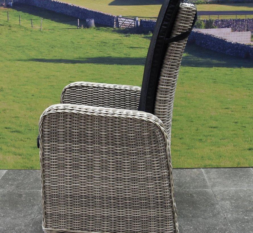 Umbria dining tuinstoel verstelbaar grijs wicker