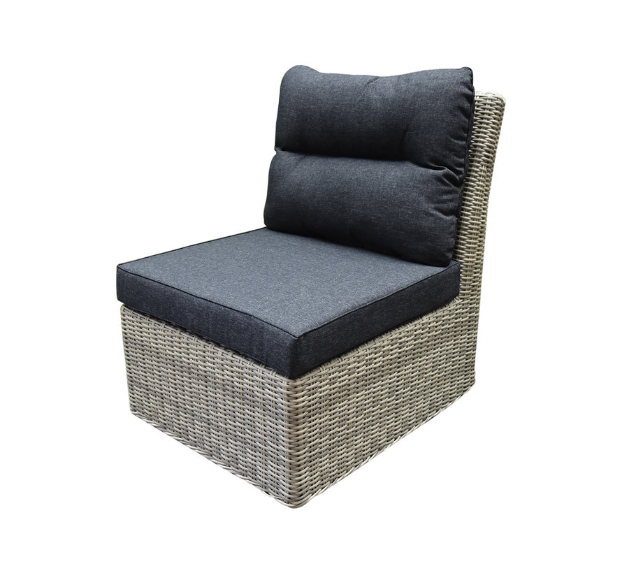 Cancun hoek loungeset loungeset 7-delig grijs wicker